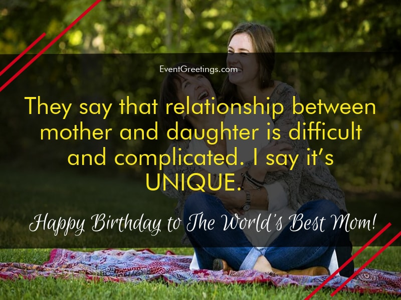 31+ Short Birthday Quotes For Mother From Daughter