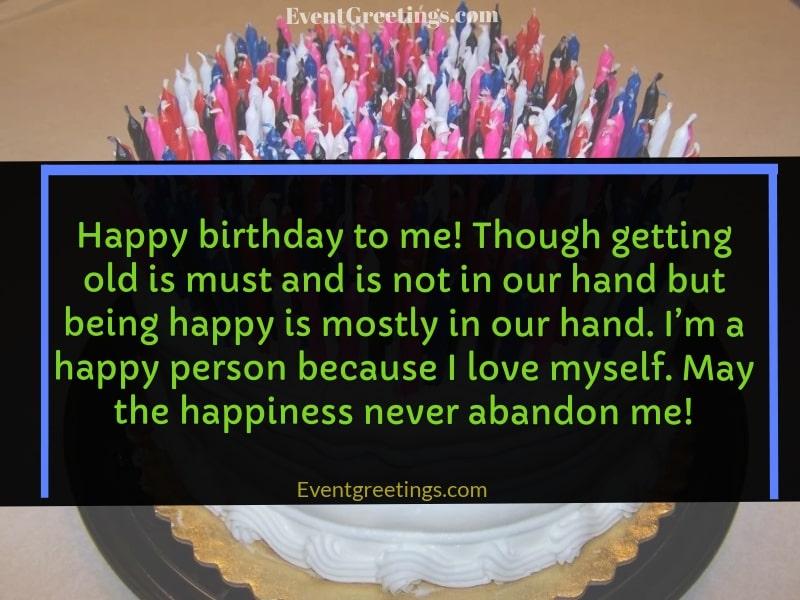 Message Birthday Self