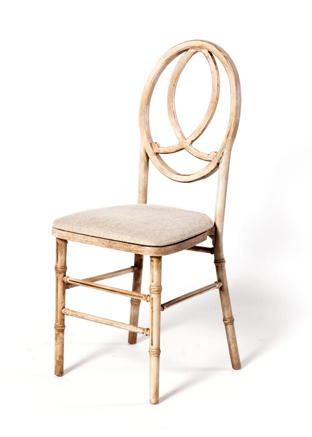 ghost side chair evenflo easy fold high manual infinity - antique natural eventhaus rentals