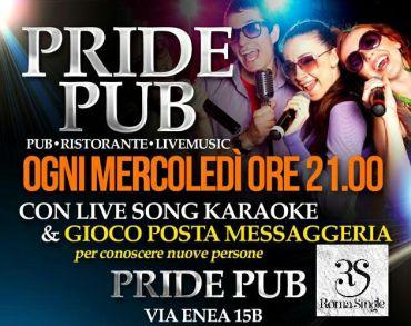 Mercoledì 29 marzo 2017 Pride Roma Single Party