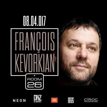 Room 26 sabato 8 aprile 2017 Francois Kevorkian lista e prive