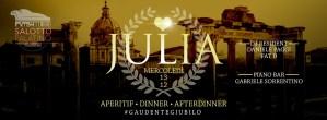 Salotto Palatino Roma mercoledi 13 dicembre apericena disco Lista Globo