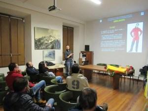 Corso di Speleologia CAI Varallo in aula