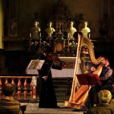 2014, Emy Bernecoli, violino, Davide Burani, arpa, concerto musica classica