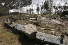 Giardino botanico del Parco Naturale alta Valsesia, distrutto da valanga
