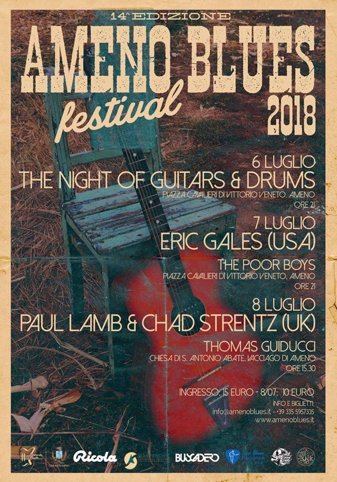 Ameno Blues festival locandina