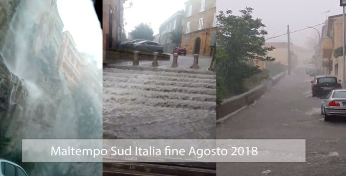 25 Agosto, Maltempo Sud Italia