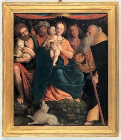 Bernardino Lanino, Madonna con il Bambino e santi, 1435-1440 circa, tavola, Vercelli, Museo Borgogna