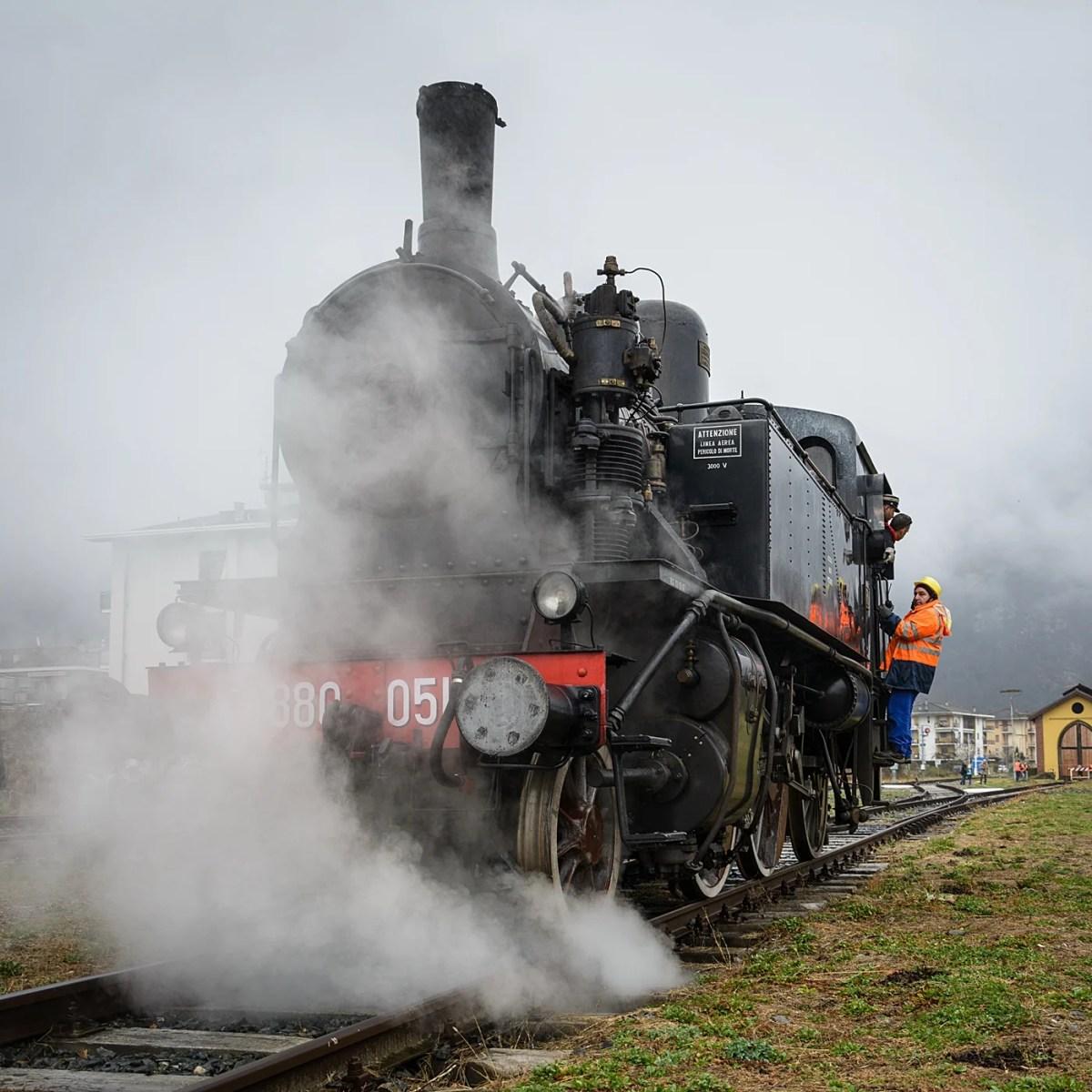 Varallo: E' arrivato il Treno storico a Vapore!!