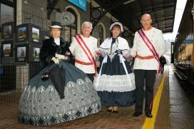 Figuranti in costume d'epoca al Treno storico a Varallo Sesia. Photo credit Maurizio Merlo