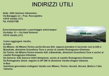 Info utili programma Operazione Albatros Varallo aprile 2019