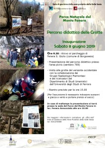 Inaugurazione percorso didattico grotte Fenera