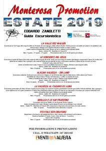 Programma escursioni estate 2019 Zanoletti