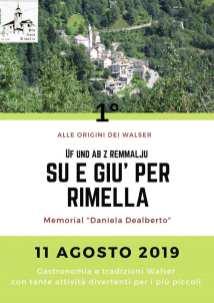Su e giù per Rimella 2019 locandina