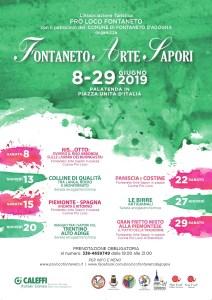 Fontaneto arte sapori 2019 locandina