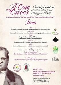 A Cena con Cavour Sizzano Mostra del Vino 2019