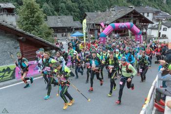 Alla partenza della Monterosa Skimarathon 2018. Credit Fotografia di Montagna