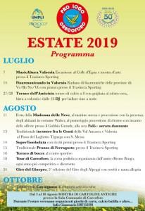 Eventi estate 2019 Carcoforo