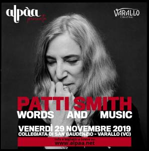Patti Smith a Varallo Sesia novembre 2019
