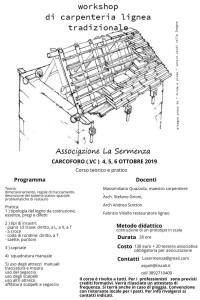 Programma corso costruzione lignea La Sermenza