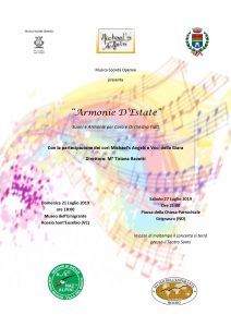 Armonie d'estate. concerto a Grignasco locandina