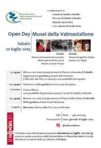 OPEN DAY MUSEI VALMASTALLONE