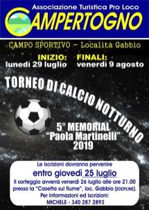Torneo di calcio notturno Campertogno 2019