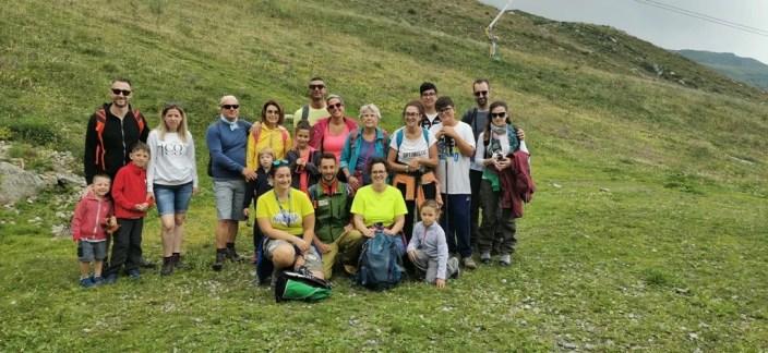 foto di gruppo Escursione Passo dei Salati 12 con la guida Gabriele Milani