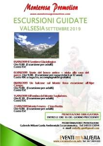 Escursioni settembre 2019 Gabriele Milani