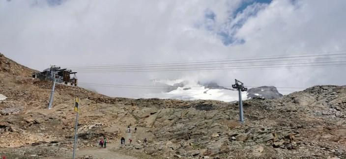 Il Monte Rosa nascosto dalle nuvole Passo dei Salati