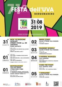 Locandina Festa dell'UVA Borgomanero 2019