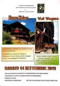 escursione Valle Vogna 14 settembre locandina