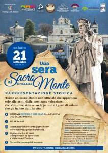 locandina Una sera al Sacro Monte 21 settembre