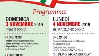 Photo of Celebrazioni 3 e 4 Novembre Prato Sesia e Romagnano Sesia