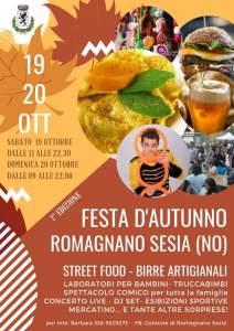 Locandina Festa d'autunno 2019 Romagnano