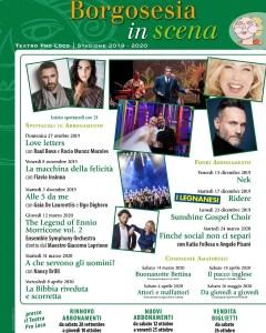 locandina stagione teatrale Borgosesia 2019-20