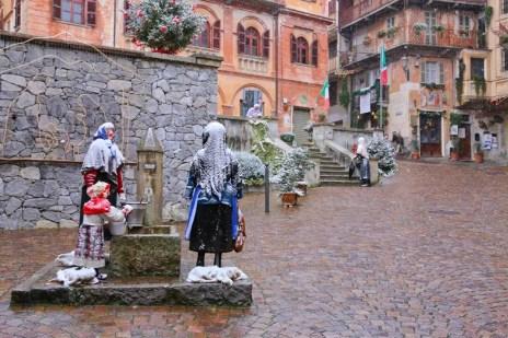 piazza neve Presepe gigante di Marchetto