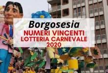 Photo of Borgosesia: Numeri vincenti lotteria di Carnevale 2020