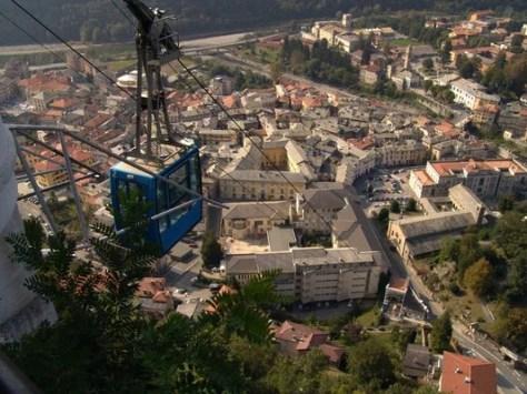 Funivia Sacro Monte di Varallo, credit
