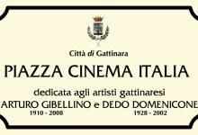 """Photo of Gattinara: inaugurazione """"Piazza Cinema Italia"""""""