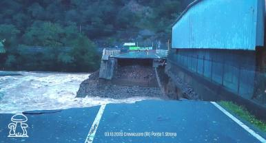 Alluvione 2020 Valsesia. Ponte Strona presso Crevacuore