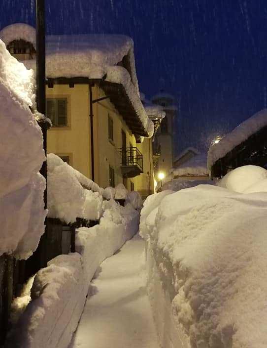 nevicata in Valsesia Cervatto