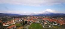Panorama dal Castello di Sopramonte a Prato Sesia
