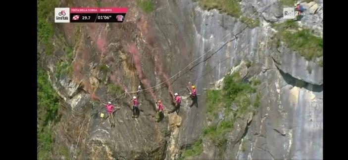 Ferrata Falconera Giro d'Italia riprese aeree RAI