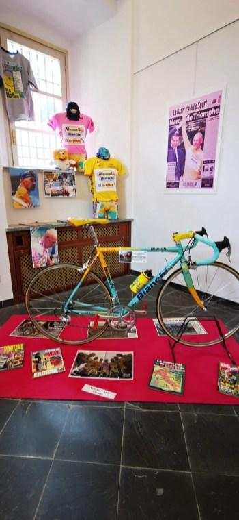 Mostra Pantani Varallo. Bicicletta di Pantani
