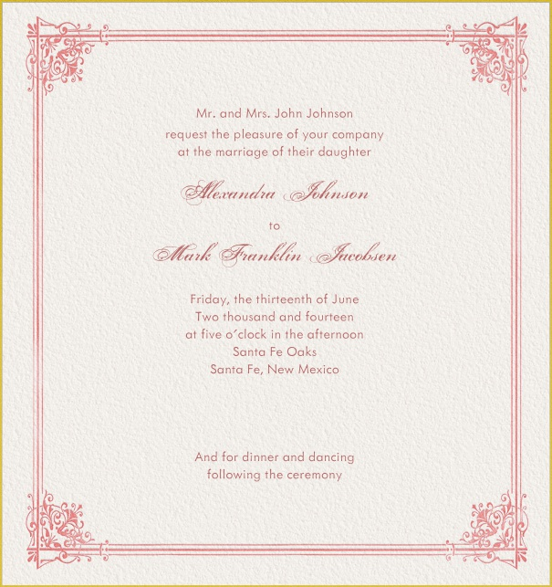 Baroness Online Wedding Invitation Cards