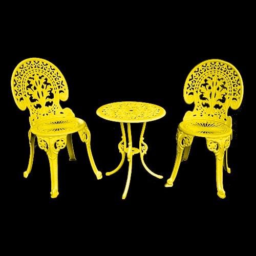 gatsby cast iron bistro patio chair
