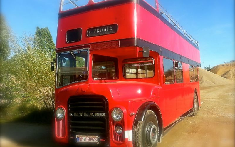 london bus in rot cabrio routemaster eventmobile. Black Bedroom Furniture Sets. Home Design Ideas