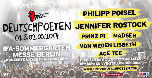 Fritz DeutschPoeten 2017,Festival, IFA-Sommergarten,Musik,Konzert,Freizeit,Unterhaltung,Berlin