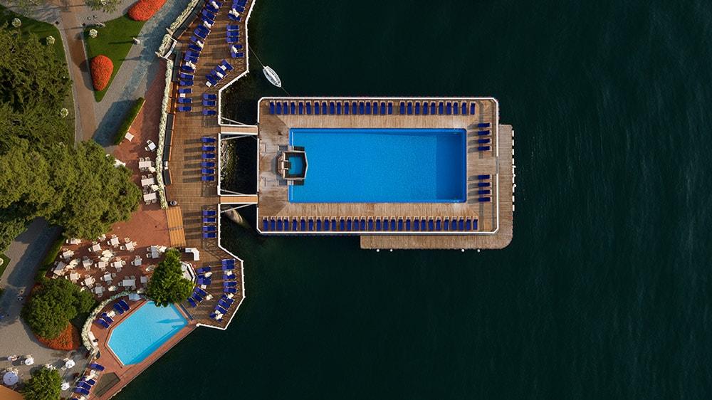 Villa d'Este - Pools from above